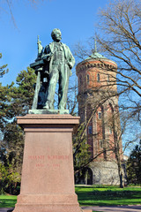 Statue of Auguste Bartholdi (1834-1904) french sculptor in Colma