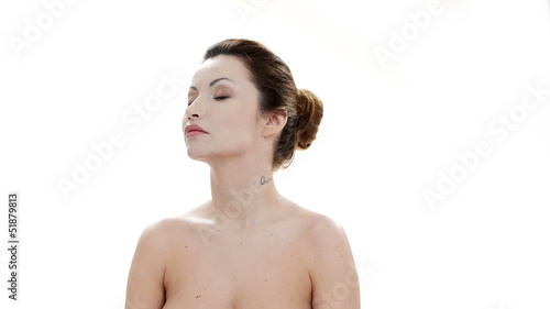 Attractive woman with healthy clean skin
