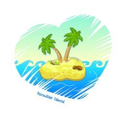Paradise Island vector illustration