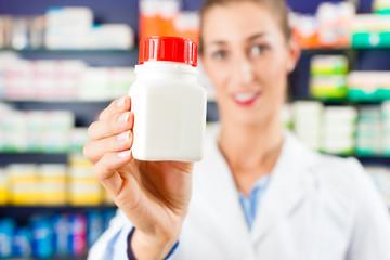 Female pharmacist in her pharmacy