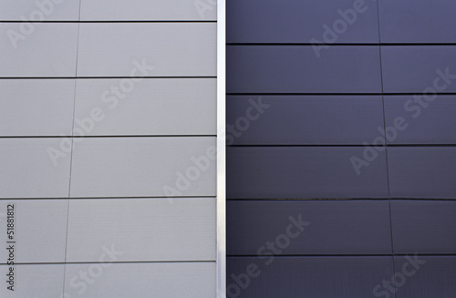 Two color metal surface