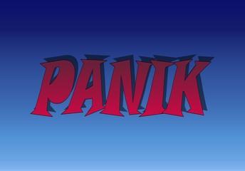Schriftzug Panik