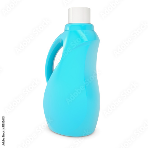Plastic bottle of household chemicals