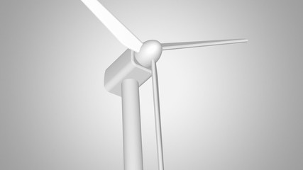 White Wind Turbine seamless looping. Luma matte included.