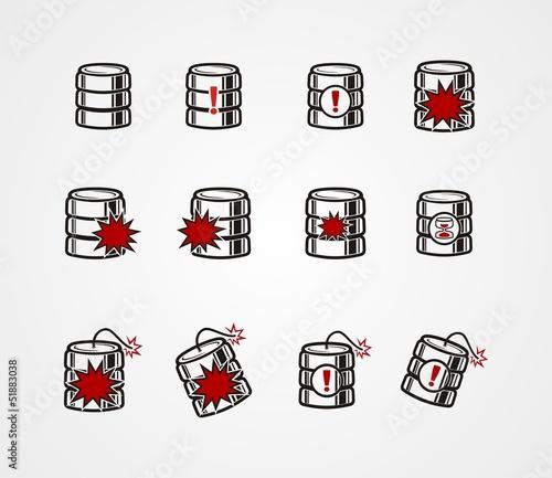 database crash icon sets