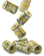 eight rolls of money