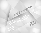 grey infographic background crystalline template