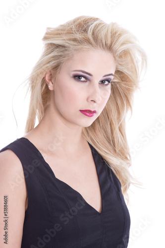 Gesicht einer blonden Frau isoliert