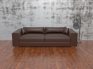 Sofa vor alter Wand