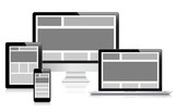 Fully responsive web design devices vector eps10