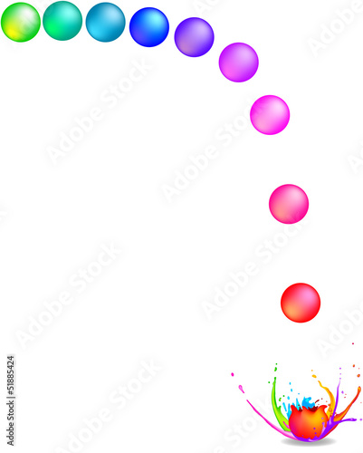 Rainbow coloured paintballs