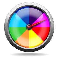 Speedometer Rainbow Colors-Contachilometri quadrante Arcobaleno