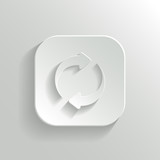 Refresh icon - vector white app button