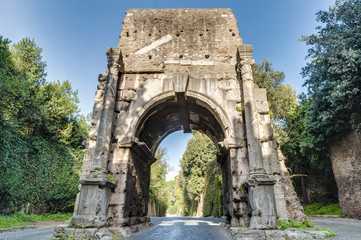 Arch of Drusus in Rome, italy
