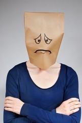 sad looking person