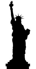 Statue Of Liberty Vector Black Shadows Silhouette