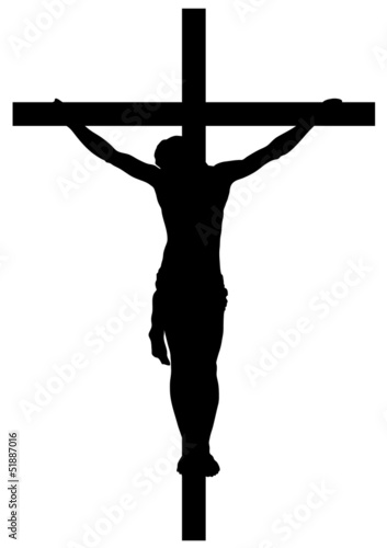 Jesus Christ Crucifiction Silhouette - 51887016