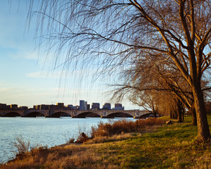 Rosslyn Virginia From The Banks Of The Potomac River