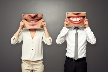 photo of smiley people
