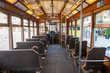 Interior of an old Lisbon tram, Portugal - 51889607