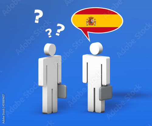Business Spanish Language Concept
