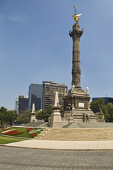 Monument the Angel of Independence, in Mexico.