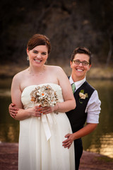 Couple Posing for Civil Union