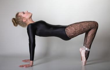 modern style woman ballet dancer full length