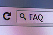 FAQ Text in Address Bar of Internet Browser