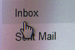 Hand Cursor on Inbox Button