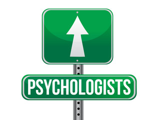 psychologists road sign illustration design