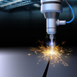 Industrial laser cutting of steel