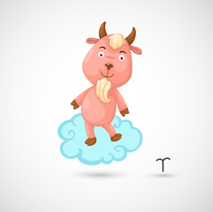 Zodiac signs -Capricorn vector Illustration