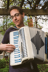 Blue Retro Accordion