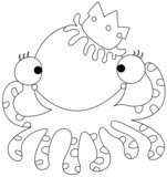 illustration of an octopus on a white background vector