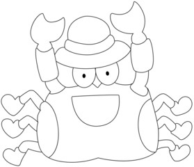 illustration of a crab on a white background vector