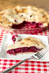 Berry Pie-drizzled ice cream