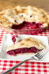 Berry Pie-drizzled ice cream