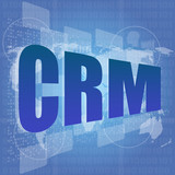 Marketing concept: words crm is a marketing on digital screen