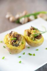 Champignon-Tofu-Grillkartoffel