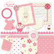 Scrapbook set for baby girl