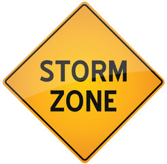 Storm zone warning