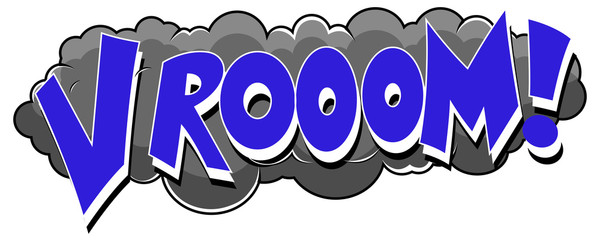 Vrooom - Comic Expression Vector Text