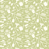 Gardening related seamless pattern 3