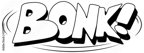Bonk - Comic Expression Vector Text