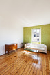 home interior, view white sofa and window
