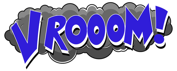 Vrrrooom - Comic Speed Expression Vector Text