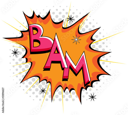 Bam - Comic Expression Vector Text