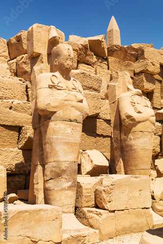 Poster Egypte Ancient architecture of Karnak temple in Luxor, Egypt