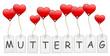 Schilder Herzen Muttertag